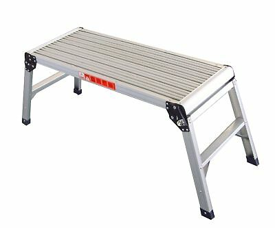 FoxHunter Folding Step Hop Up Aluminium Work Bench Platform Stage Ladder 150KG