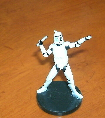Elite Clone Trooper Grenadier Star Wars Clone Wars Miniature #11/40 - NC