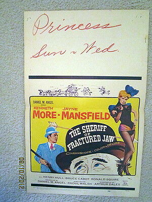 THE SHERIFF OF FRACTURED JAW(1957)SEXY JAYNE MANSFIELD/MORE ORIGINAL WC  POSTER