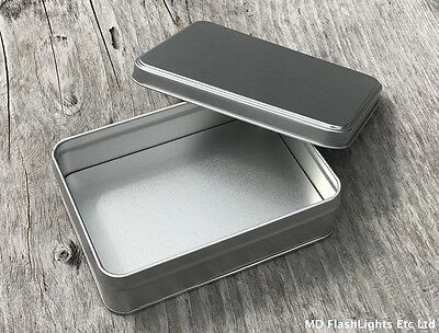 Large Silver Survival/bushcraft Storage Box Ideal For Survival Kits Tinder Kits