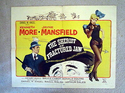 THE SHERIFF OF FRACTURED JAW (1957)SEXY JAYNE MANSFIELD/MORE- HALF SHEET POSTER