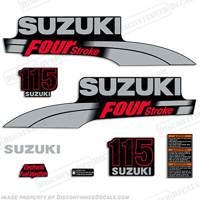 Suzuki 115hp 2003-2009 FourStroke Outboard Engine Decal Kit DF115 marine decals