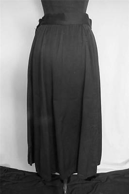 VERY RARE DEADSTOCK VINTAGE 1940'S WWII BLACK FLARED RAYON GABARDINE  SKIRT SIZE
