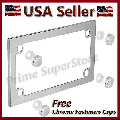 new classic chrome metal motorcycle license plate frame harley davidson honda