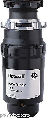 NEW GE Disposall 1/2 HP Continuous Feed Food Waste Disposer Disposal GFC520V