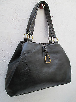 -AUTHENTIQUE sac à main type cabas RALPH LAUREN cuir TBEG vintage bag A4 07761a2395f