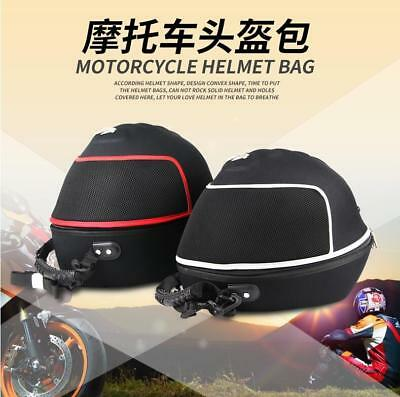 Universal Racing Black Motorcycle Bike Red Helmet Bag Head Lid Carry Case