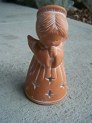 Tabletop Clay Angel Tea Candle Luminaria - Mexico