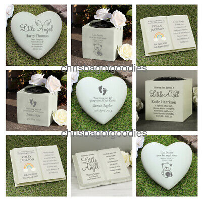 PERSONALISED REMEMBRANCE BABY CHILD Grave Memorial Vase Ornaments Stones Plaque