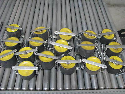 LOT of 17  x  Roller Conveyor Speed Controller Pallet Brake Wheels