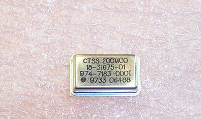 QTY (5)   200.00MHz FULL SIZE  OSCILLATOR CTSS 200MHz ..FREE SHIPPING