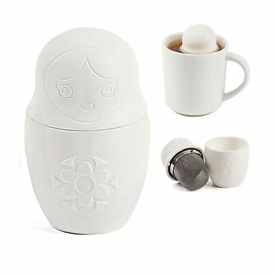 Matryoshka Russian Doll Tea Infuser Mateaska Loose Leaf Herbal Strainer Diffuser