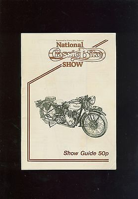 1980 National Classic Bike Show Guide Booklet