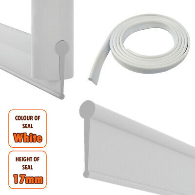 Soft Rubber White Shower Screen Seal Strip | Bathroom Bi-Fold Folding Door | NEW