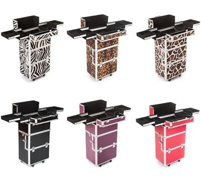 Urbanity makeup cosmetic beauty hairdressing nail case box bag mobile trolley