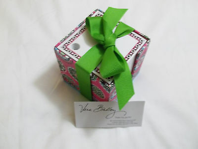 Vera Bradley CUPCAKES PINK Large TAKE NOTE CUBE Paper FOR Home OFFICE Desk, EUC~