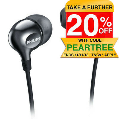 Philips SHE3700BK Earbuds Earphones Headphones In-ear Plugs for Radio MP3 Mp4 CD