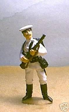 TOY SOLDIERS METAL WORLD WAR 1 WWI GERMAN NAVY SAILOR AT READY 54MM