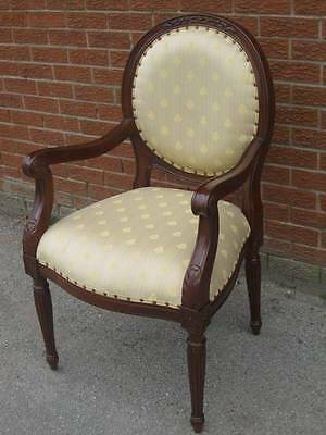 Chateau Mahogany French Boudoir Arm Chair Armchair Carver Dining Chair • £150.00