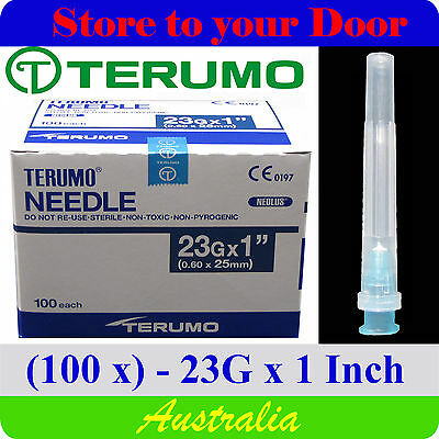 (100) 23G x 1 inch Terumo Needles / Medical Hypodermic Syringe Tips - Sharps