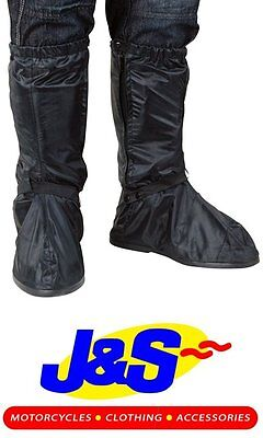 Oxford Waterproof Over Boots Motorbike Motorcycle Black Overboots  J&s