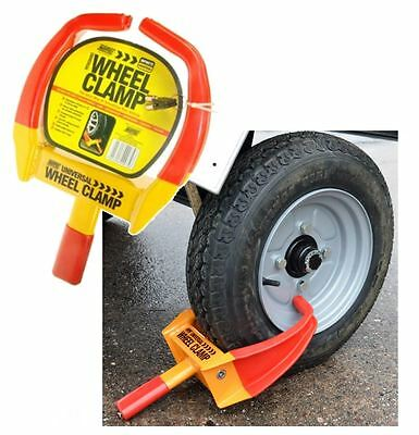 Maypole Universal Security Wheel Clamp Claw / Immobiliser - Bike Caravan Car