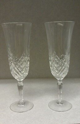Crystal Champagne Glass Bride Groom Glasses Set of 6 Marriage Wedding