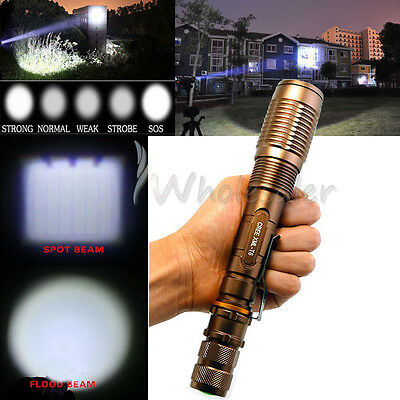 Ultrafire 2200 Lumen CREE XML-T6 LED 18650 Flashlight Torch Zoomable Lamp USA