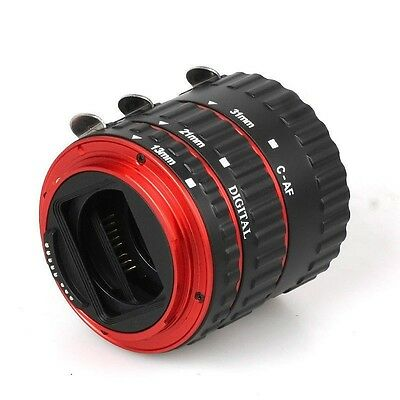 Red Auto Focus Macro Extension Tube for CANON EOS EF-S 70D 60D 7D 6D 5D Mark III