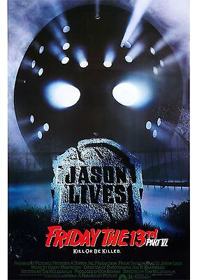 Friday the 13th Part 6 Jason Lives - Jason Voorhees - A4 Laminated Mini Poster