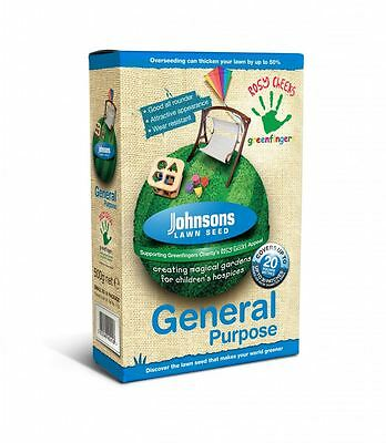 Johnsons General Purpose Lawn Grass Seed 500G / 20 Sq Metres Coverage