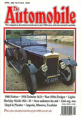 THE AUTOMOBILE magazine 4/93 feat. TT Hutton, '28 Daimler 16/55, Dodge, Shelsley