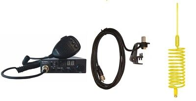 CB Radio & Antenna Kit - Moonraker Minor II CB Radio + Yellow Tornado CB Antenna
