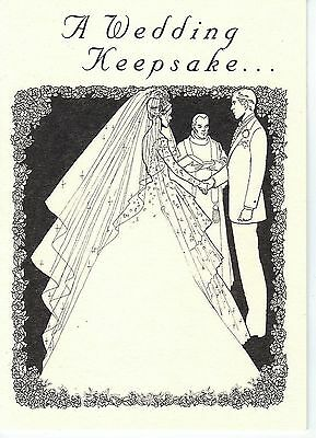 Wedding Card w/King Edward VII Lucky .925 Silver Sixpence Coin for Bride's Shoe