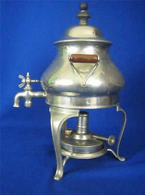 """Antique Landers, Frary & Clark 12"""" Silverplated Coffee Maker with Burner"""