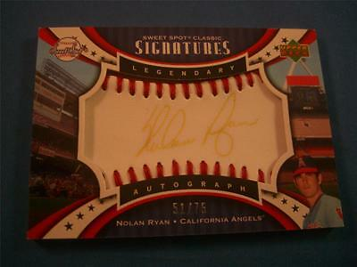 Nolan Ryan Sweet Spot Classic 2007 Signatures SPS-NR 51/75 Gold Yellow Ink Red