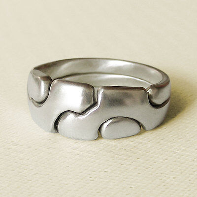 (AMICUS) Unique Puzzle Rings - Sterling Silver - Any Size