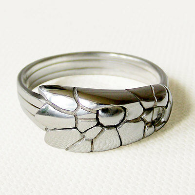 (COBRA) Unique Puzzle Rings - Sterling Silver - Any Size