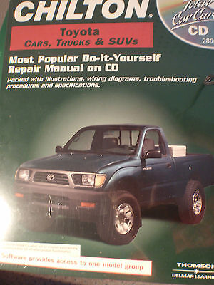 Chilton Toyota Cars Truck And Suv's Cd Dot It Yourself Repair Manual New 28064