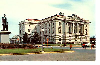 Bootle Federal Building-Courthouse-Statue-Macon-Georgia-Vintage Postcard