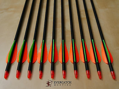 "10x 32"" Fiberglass Arrows 15-65lb Archery Compound & Recurve Bow Target &Hunting"