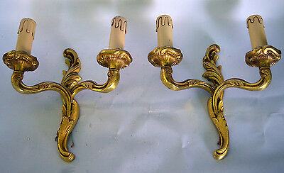 french vintage bronze sconces