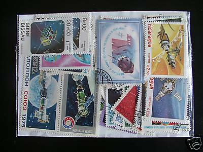 Timbres Espaces / Satellittes : 25 Timbres Tous Differents / Stamps Space