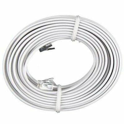 25 FT Feet RJ11 4C Modular Telephone Extension Phone Cord Cable Line Wire White