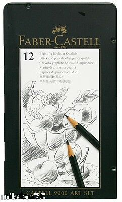 Faber Castell 9000 Special Art Set 12 Blacklead Pencils of Superior Quality