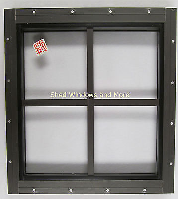 Shed Square Window Brown Flush Playhouse Treehouse Chicken Coop Storage Barn
