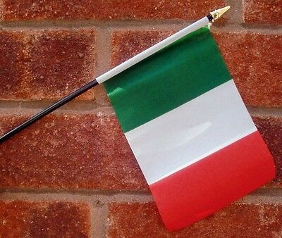 ITALY flag PACK OF TEN SMALL HAND WAVING FLAGS Italian Rome Milan