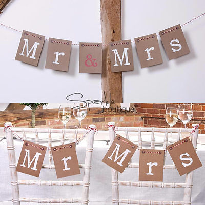 'MR & MRS' BUNTING -Vintage/Retro Wedding Chair/Wall Banner- FULL RANGE IN SHOP!