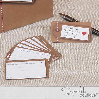 WEDDING WISHES/ADVICE CARDS x25 -Alternative to Vintage Guest Book-RANGE IN SHOP