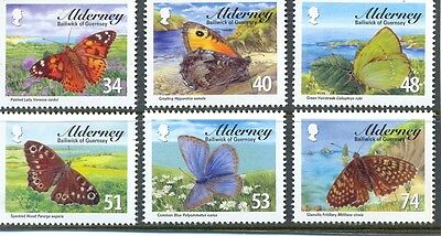 Alderney-Butterflies set mnh Insects